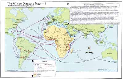 The African Diaspora Map I This Map Is The Result Of Almost 20 Years Research By Joseph Harris Distinguished Professor Department Of History